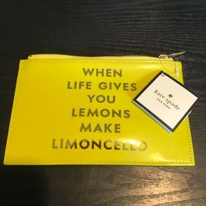 Kate spade when life gives you lemons pouch